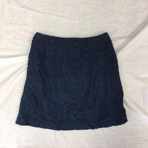 Merona Navy Size 6 Skirt